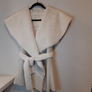 Like New White Furry Vest